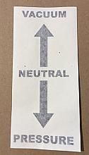DECAL  - VACUUM/NEUTRAL/PRESSURE (BLACK ARROW)