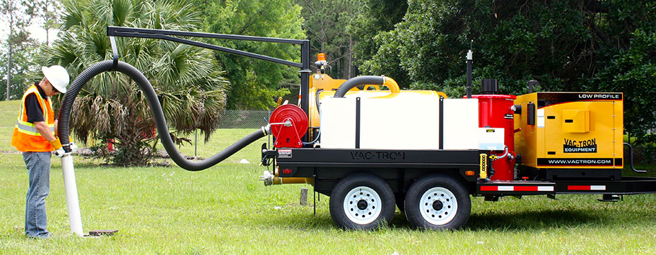 Vac-Tron LP Series Trailer Mounted Hydro-Excavation System